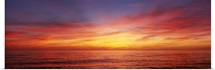 Sunset over a sea, Gulf of Mexico, Venice Beach, Venice, Florida