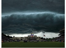 Thunderstorm Approaches Bill Snyder Family Stadium