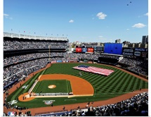 Yankees Stadium during opening of the game for the New York Yankees MLB team.