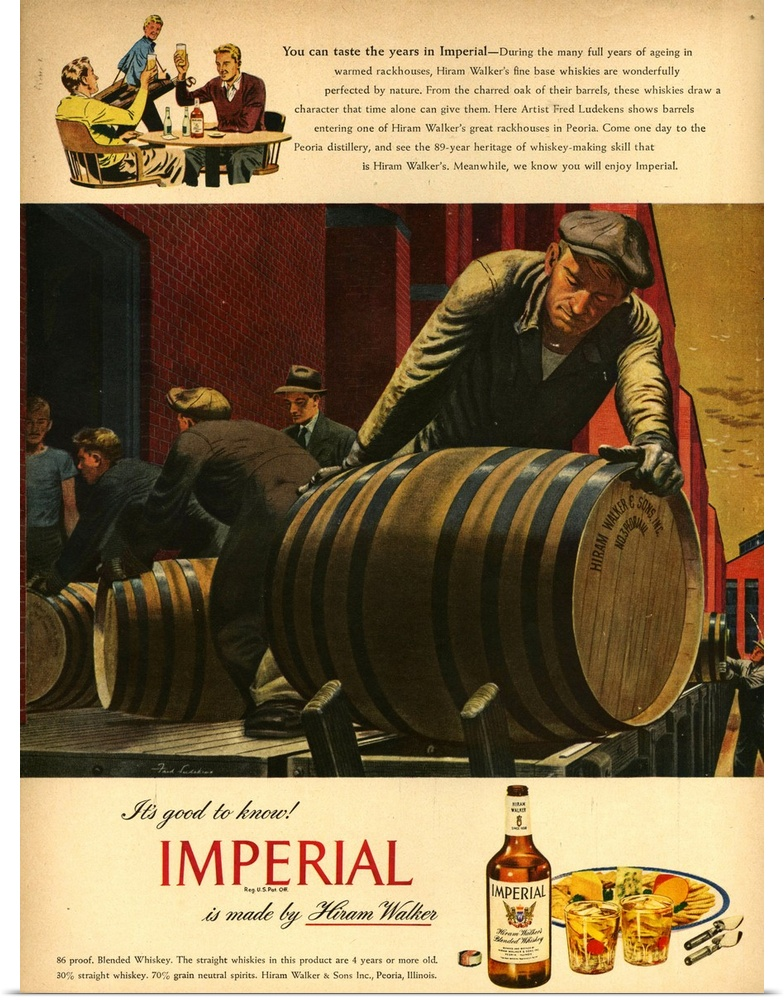 Poster print wall art entitled imperial whisky magazine for Imperial printing