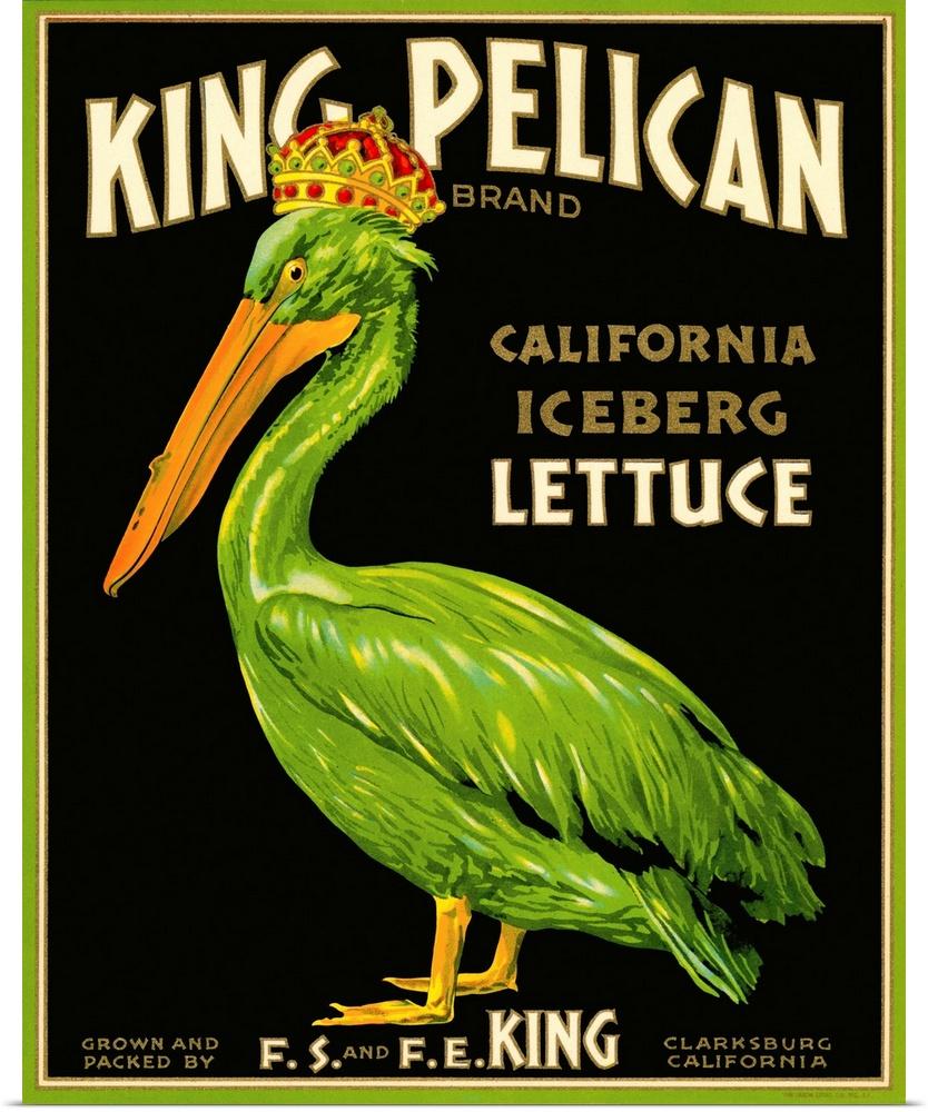 Poster Print Wall Art entitled King Pelican Brand Lettuce | eBay