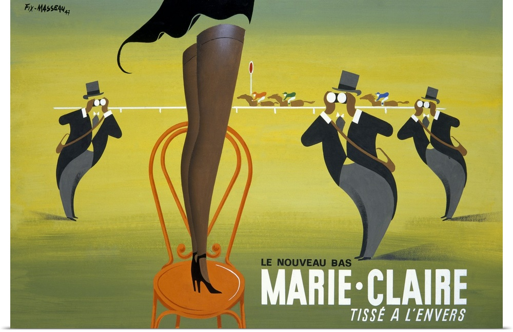 Poster Print Wall Art entitled Marie Claire, Tisse a lEnvers ...