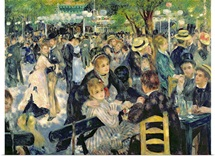 Ball at the Moulin de la Galette, 1876 (oil on canvas)