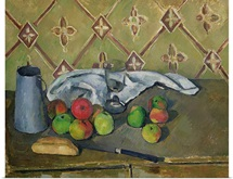 Fruit, Serviette and Milk Jug, c.1879 82 (oil on canvas)