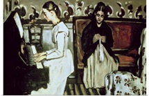 Girl at the Piano (Overture to Tannhauser), 1868 69 (oil on canvas)