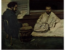 Paul Alexis (1847 1901) Reading a Manuscript to Emile Zola (1840 1902)