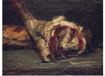Still Life of a Leg of Mutton and Bread, 1865 (oil on canvas)