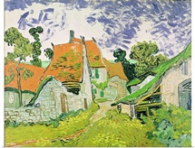 Street in Auvers sur Oise, 1890 (oil on canvas)