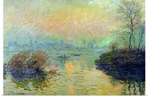 Sun Setting over the Seine at Lavacourt. Winter Effect, 1880 (oil on canvas)