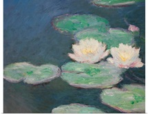 Waterlilies, Evening; detail (oil on canvas) (see also 154665)