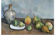Pitcher And Fruit By Paul Cezanne