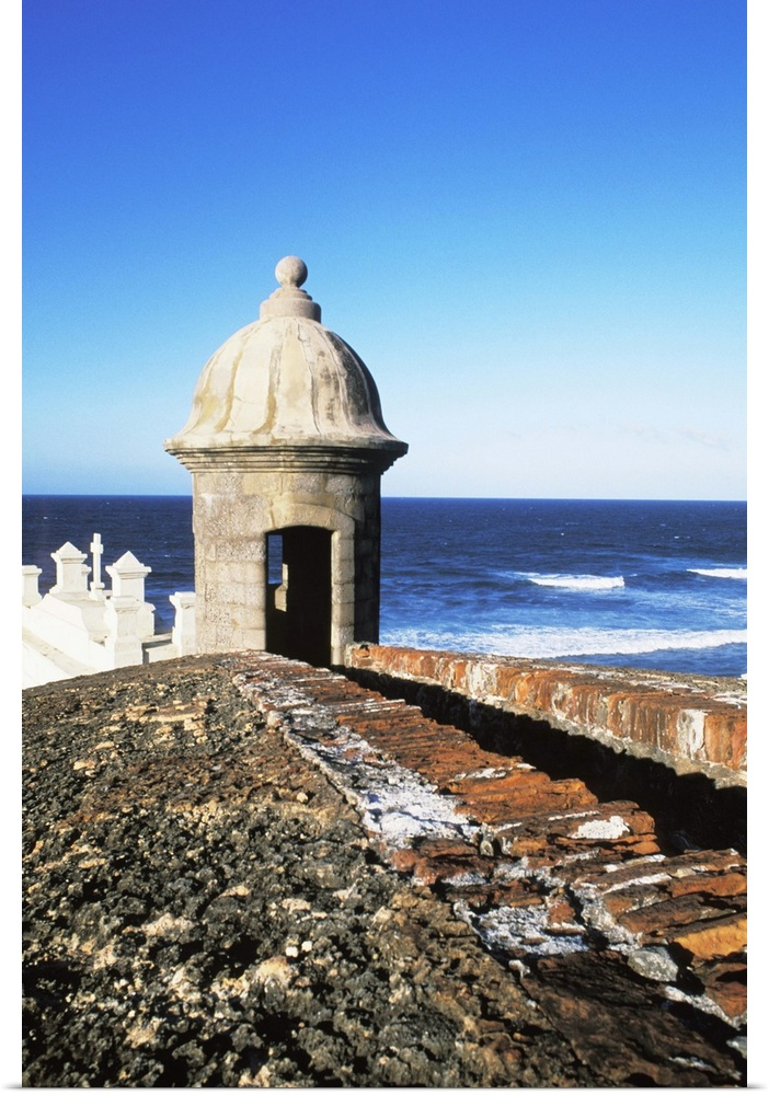 Old San Juan Wall Decor : Poster print wall art entitled fort el morro castle old
