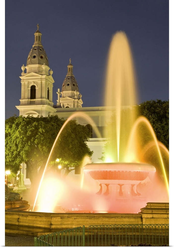 Poster Print Wall Art entitled Puerto Rico, Ponce. Fountain of the ...