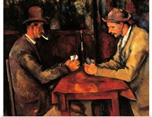 Card Players, by Paul Cezanne, ca. 1890-1892. Musee d'Orsay, Paris, France