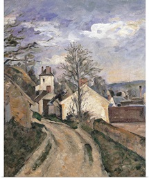 Dr. Gachet's House at Auvers, by Paul Cezanne, 1872-1873. Musee d'Orsay, Paris, France