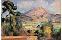 Mont Sainte Victoire, by Paul Cezanne, ca.1887-1890. Musee d'Orsay, Paris, France