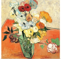 Roses and Anemones, by Vincent Van Gogh, 1890. Musee d'Orsay, Paris, France