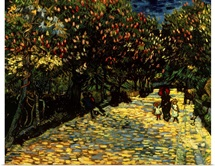 Street with Chestnuts Blossoming, by Vincent Van Gogh, 1889. Private Collection, Rome
