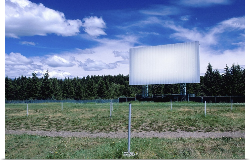 poster print wall art entitled abandoned drivein movie