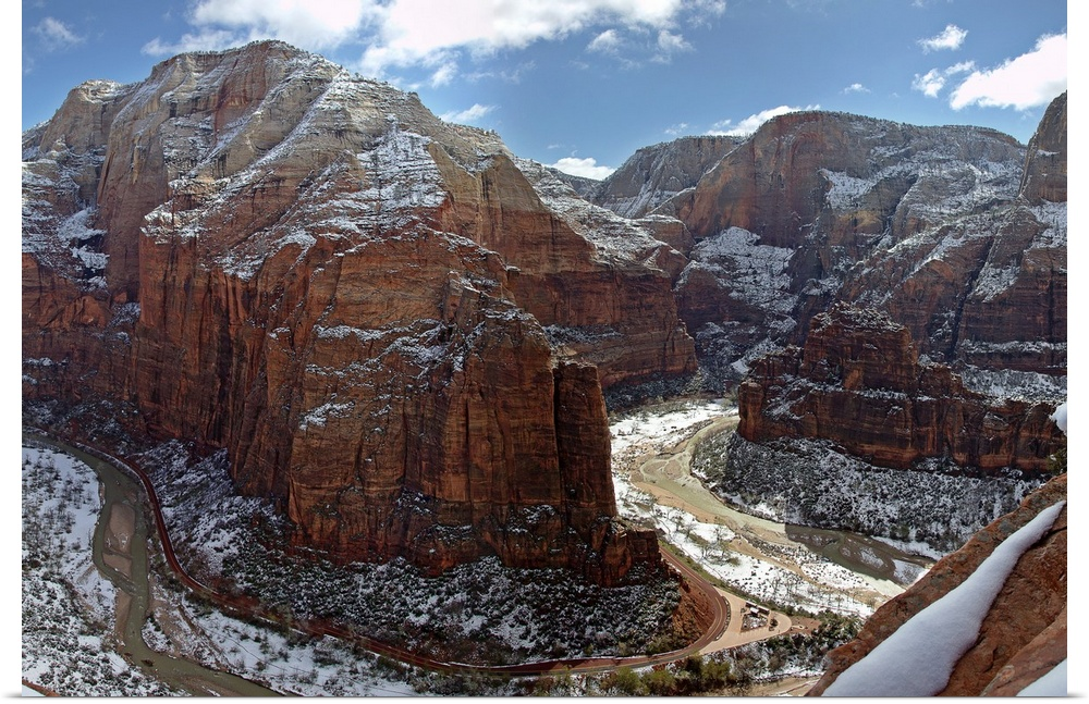 poster print wall art entitled angels landing zion national park in