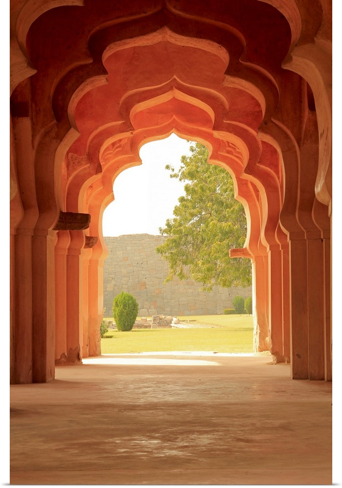 Poster Print Wall Art entitled Arches of Lotus Temple, Hampi ...