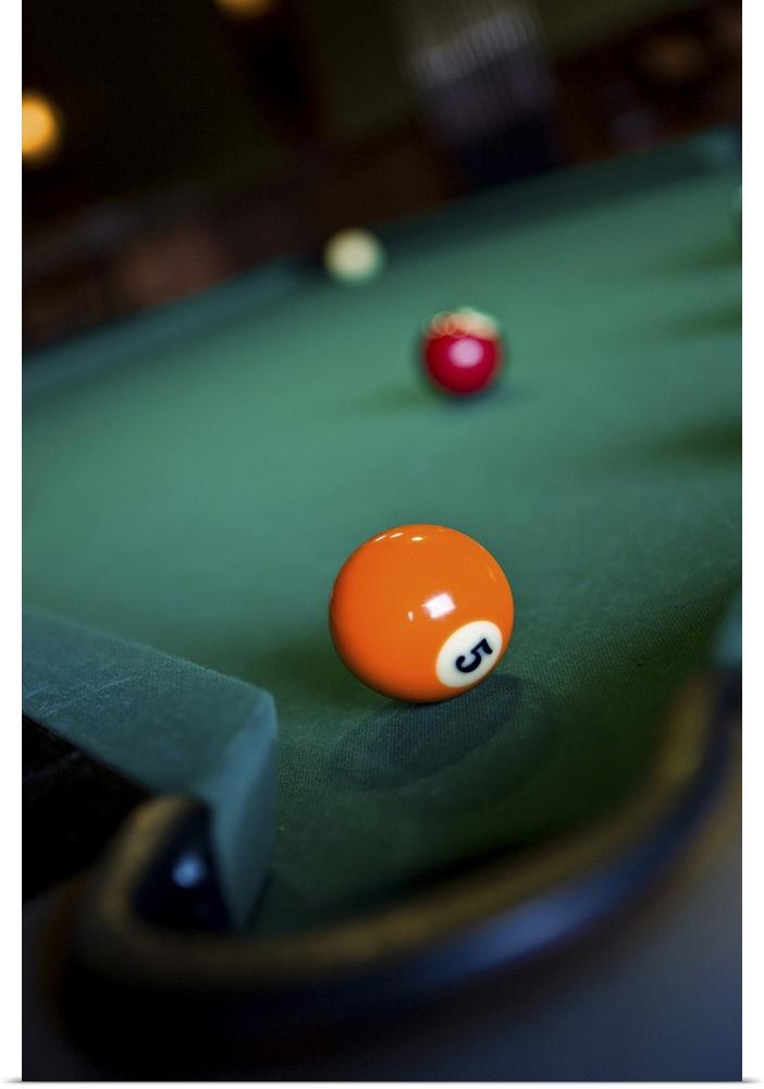 Poster Print Wall Art entitled Billiards balls on table | eBay