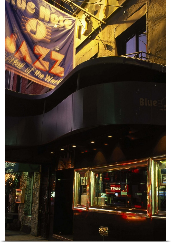 Poster Print Wall Art entitled Blue Note Jazz club, West ...