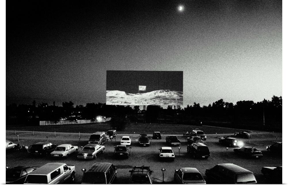 poster print wall art entitled drivein movie theatre