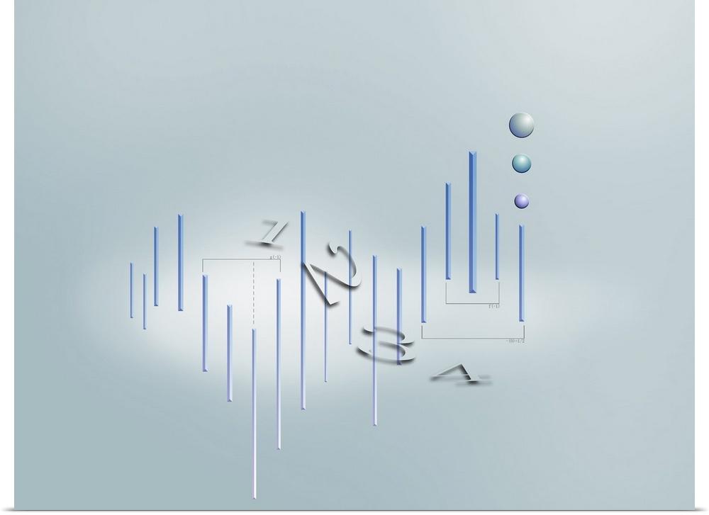 Poster Print Wall Art entitled Formula, graph, math symbols | eBay