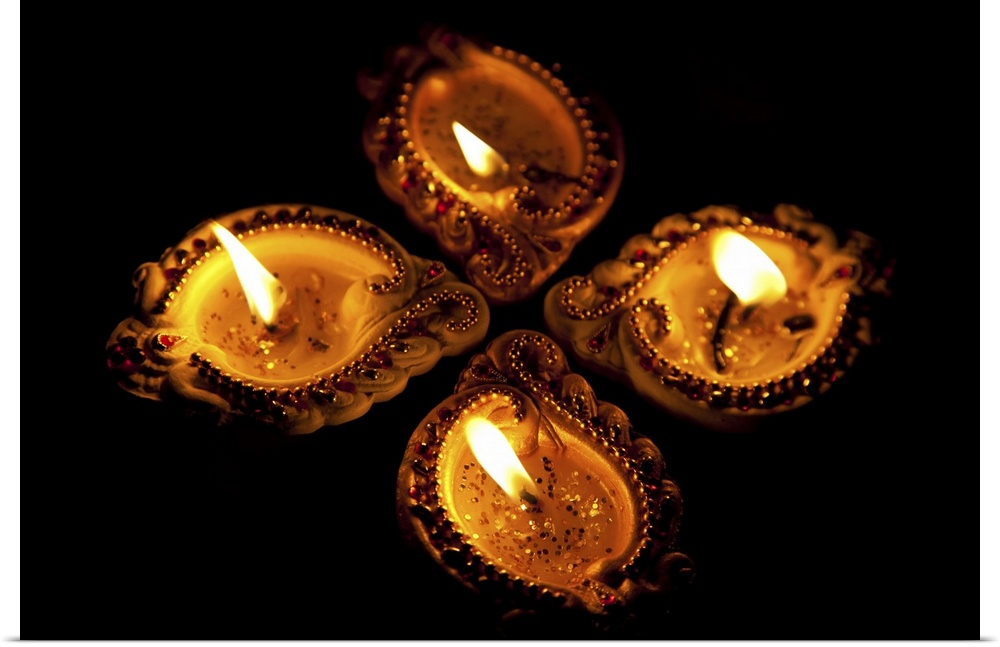 Diwali Diyas For Sale Online: Poster Print Wall Art Entitled Oil Lamps Or Diyas For
