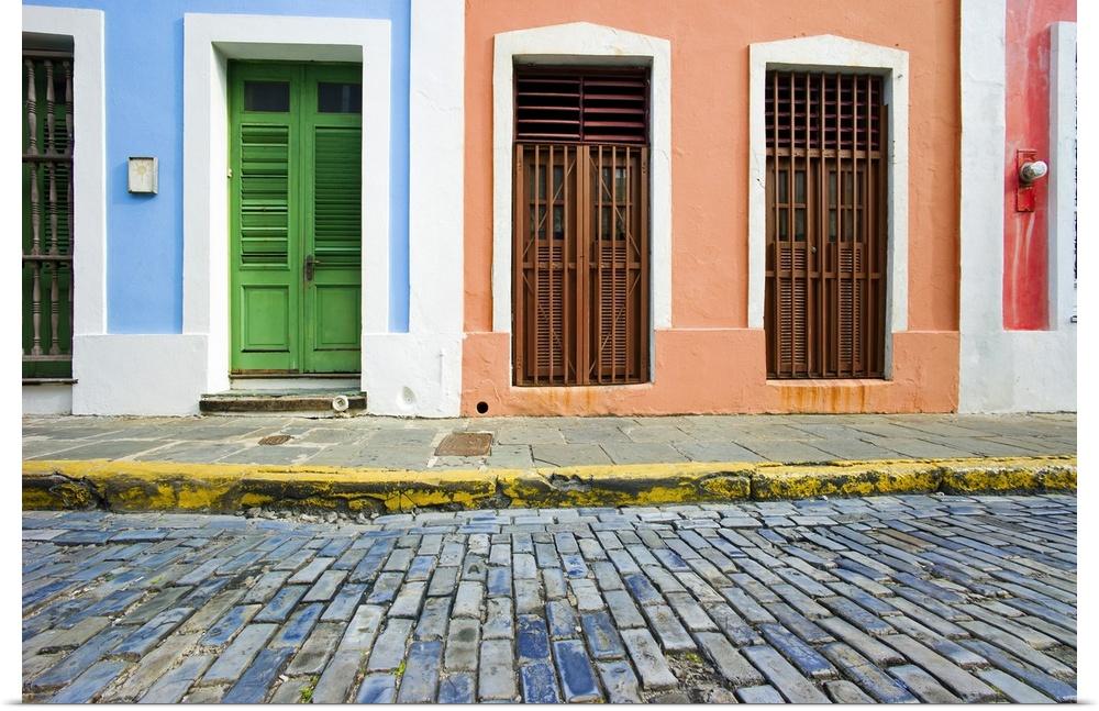 Old San Juan Wall Decor : Poster print wall art entitled puerto rico old san juan