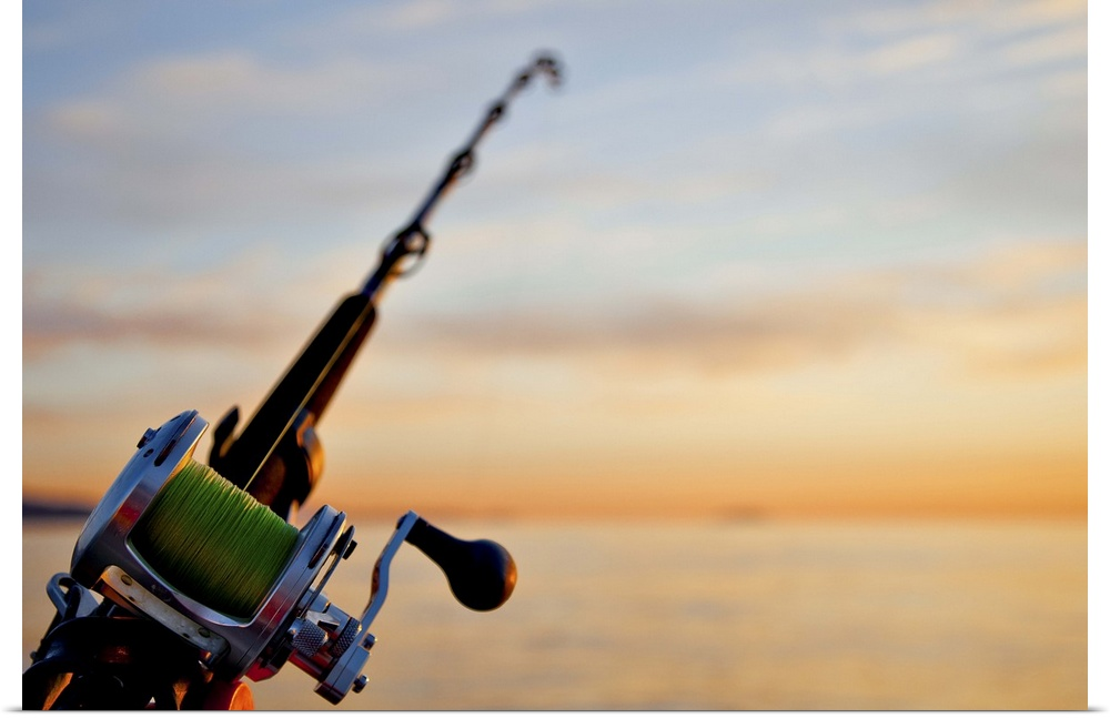 Poster print wall art entitled rod and reel for deep sea for Deep sea fishing rods and reels for sale