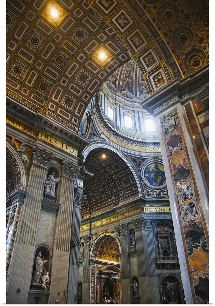 Poster Print Wall Art Entitled Saint Peters Basilica In