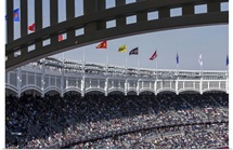 Yankee Stadium during the Opening Day game on April 6, 2015, New York City