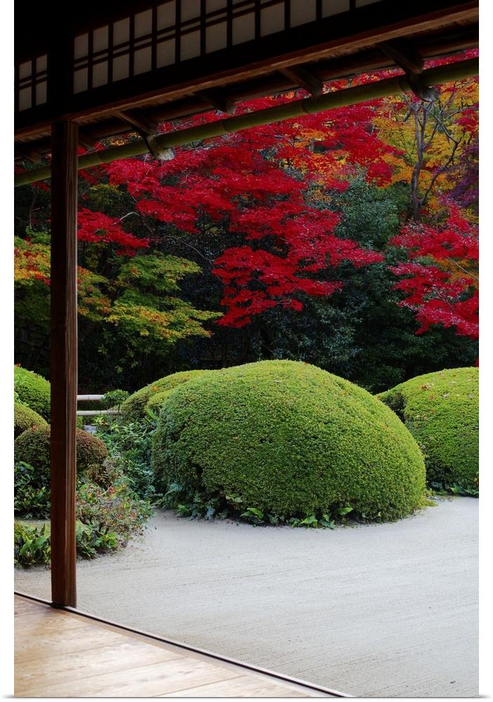 Zen garden wall decor : Poster print wall art entitled zen garden from meditation
