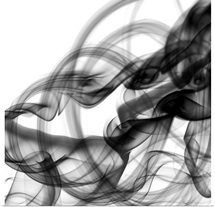 White Smoke Abstract Square