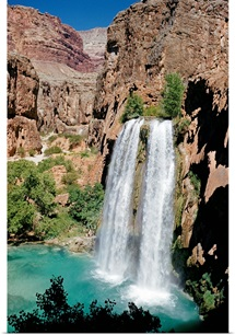 View of Havasu Falls, Grand Canyon National Park, Arizona