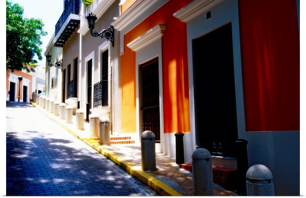 Old San Juan Wall Decor : Poster print wall art entitled calle de sol old san juan
