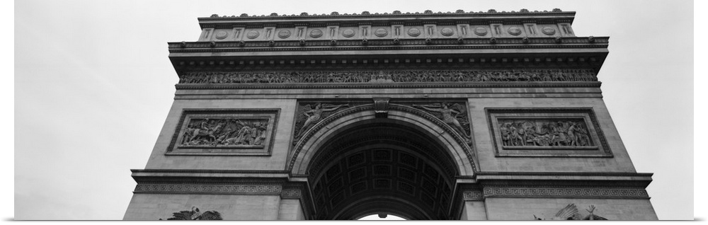Poster print wall art entitled france paris arc de for Arc de triomphe wall mural