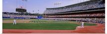 Spectators watching a baseball match, Dodgers vs. Yankees, Dodger Stadium, City of Los Angeles, California