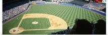 Spectators watching a baseball match in a stadium, Yankee Stadium, New York City, New York State
