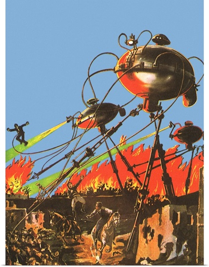 Sci Fi War of the Worlds Poster, in Many Sizes