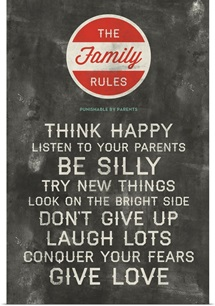 Be Silly Family Rules