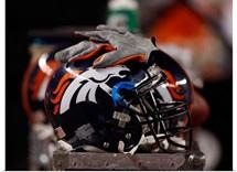 Denver Broncos Helmet sits at Sports Authority Field