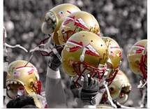 FSU Photograph Helmets Raised High
