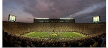 Michigan: Sunset at Michigan Stadium