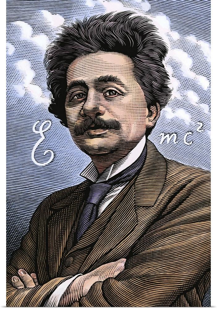 Poster Print Wall Art entitled Albert Einstein, physicist | eBay