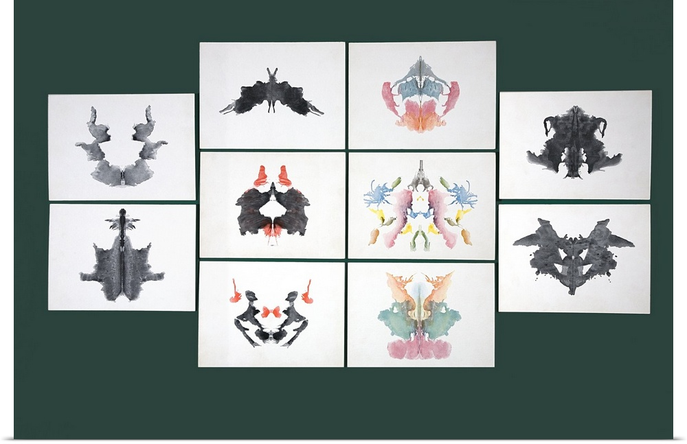 poster print wall art entitled rorschach inkblot test ebay
