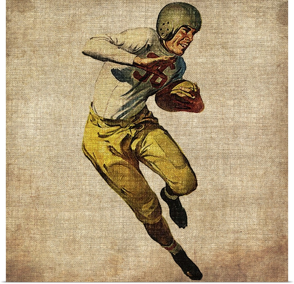 It is a graphic of Striking Vintage Sports Posters