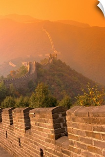 China, The Great Wall At Sunset